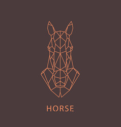 horse head geometric silhouette design element vector image