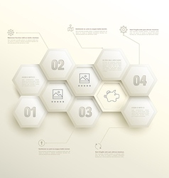 Infographic hexagons with number options vector