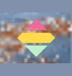 Infographic template with rhombus horizontally vector