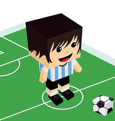 Male cartoon soccer player vector