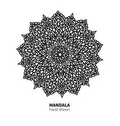 mandala flower drawing decorative boho vector image vector image