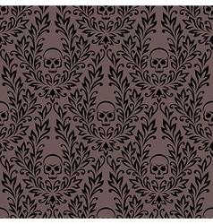 pattern ornament skull vector image vector image