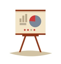 Presentation board with pie chart and infographic vector image