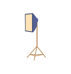Professional photo studio soft box floor lamp vector