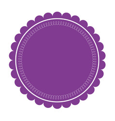 purple label round emblem decoration ornate vector image vector image