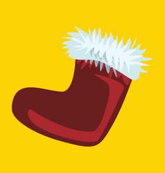 Santa claus boot christmas boot vector
