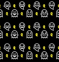 Seamless Halloween ghost pattern vector image vector image