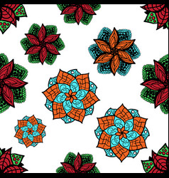 seamless zen doodle mandala background for vector image vector image