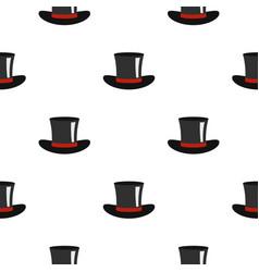 Silk hat pattern flat vector