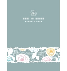 Silver and colors florals vertical torn seamless vector image vector image