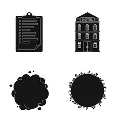 Space war and or web icon in black styletravel vector
