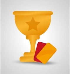 Trophy cup of soccer sport design vector