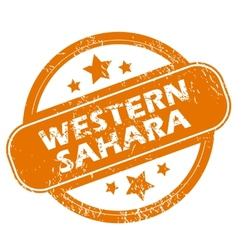 Western sahara grunge icon vector