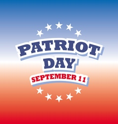 Patriot day usa banner on red and blue background vector