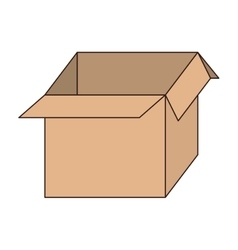 Box carton free delivery isolated vector