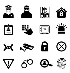 Security and safety icon set vector
