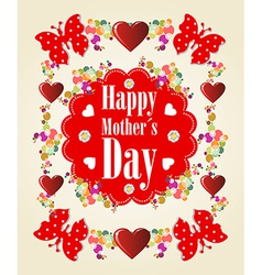 Happy mothers day background vector