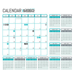 modern calendar 2017 template design with place vector image