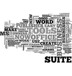 What does ms office suite offer business owners vector