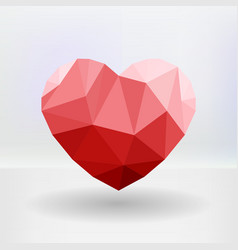 Abstract geometric heart shaped banner with vector