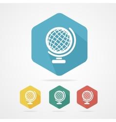 Vecrot globe icon flat vector image