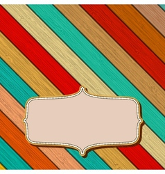 Colorful wooden background with copyspace  eps8 vector