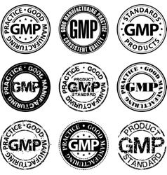 Good manufacturing practice stamp vector image