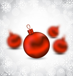Christmas background with red glass balls and vector