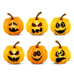 Isolated pumpkins vector