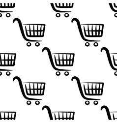 Shopping carts seamless pattern vector image