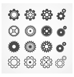 Gear icon set flat design vector