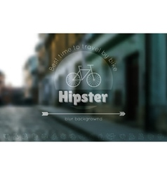 Trendy hipster blur background and logotypes 2 vector