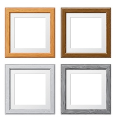 Collect wooden frames vector
