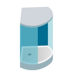 Shower cabin isometric 3d icon vector