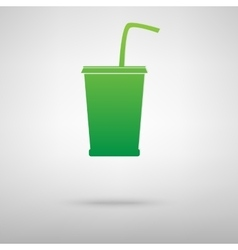 Drink icon with shadow vector