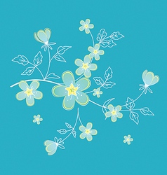 floral branch vector image
