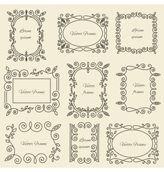 Graphic design linear monogram ornament framework vector