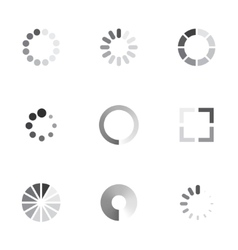 Loading icons set vector