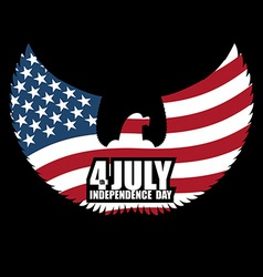 Independence day america symbol of ountrys eagle vector