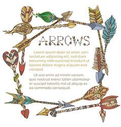 Ethnic arrows frame vector