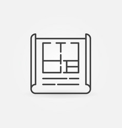 apartment plan outline icon vector image vector image
