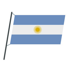 argentina flag icon isolated vector image vector image