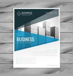 brochure template design for business presentation vector image vector image