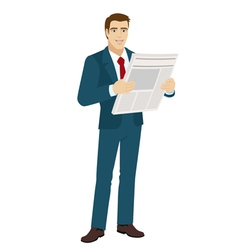 Businessman with newspaper vector