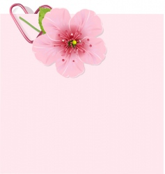 cherry blossom letter vector image vector image