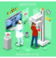 Dental panoramic isometric people vector