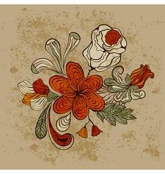Floral bizarre pattern vector