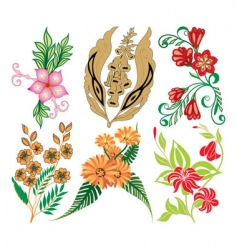 flower collection vector image vector image