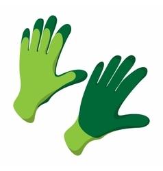 Gloves cartoon icon vector image vector image