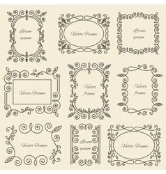 Graphic design linear monogram ornament framework vector image vector image